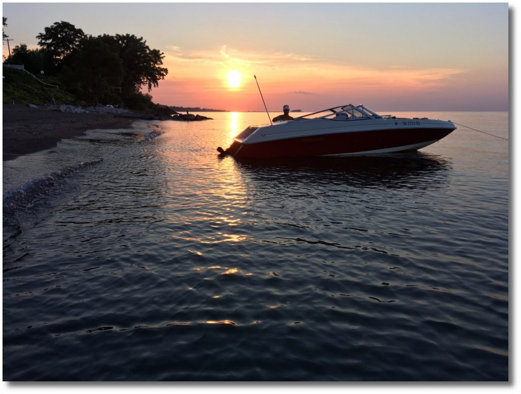 Sunsets Lake Erie